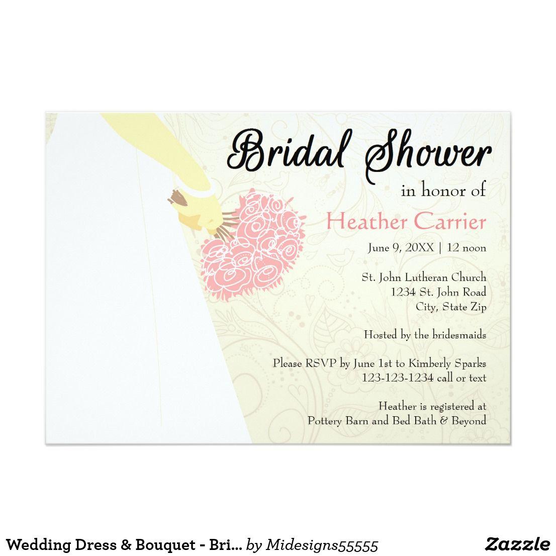 Design your own wedding dress for fun  Wedding Dress u Bouquet  Bridal Shower Invitation  Invites wedding