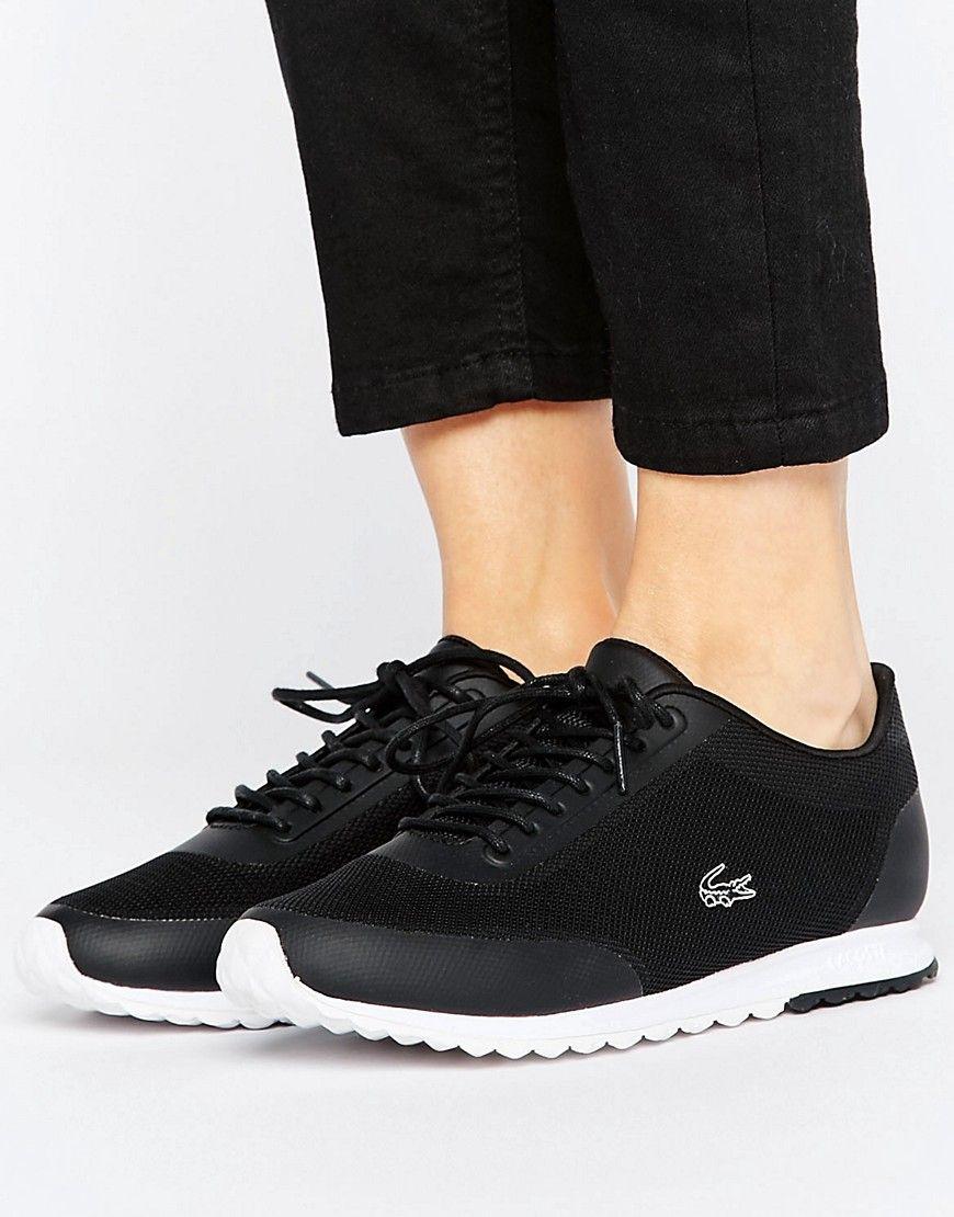 Zapatillas de deporte negras Helaine Runner 3 de Lacoste. Zapatillas