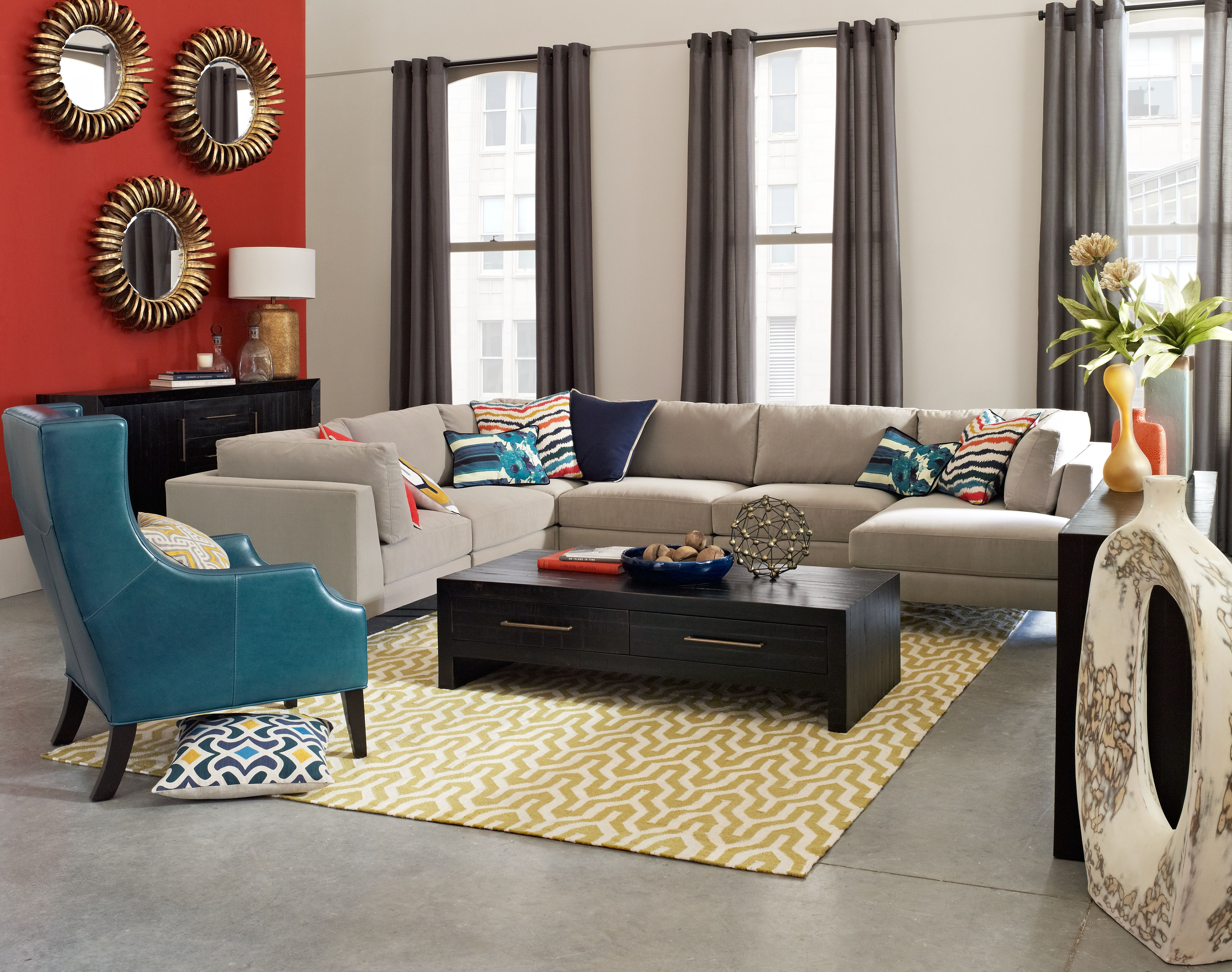 IO Metro Parker Sectional In Playroom Living Room