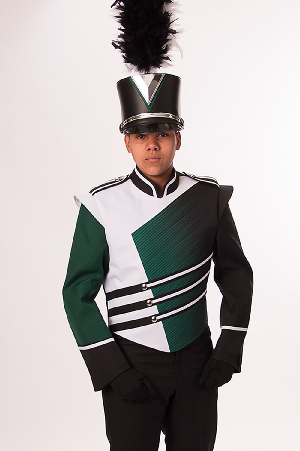 Picture This Outfit But Solid And Bright Yellow Including The Plume Band Uniforms Marching Band Uniforms Marching Band