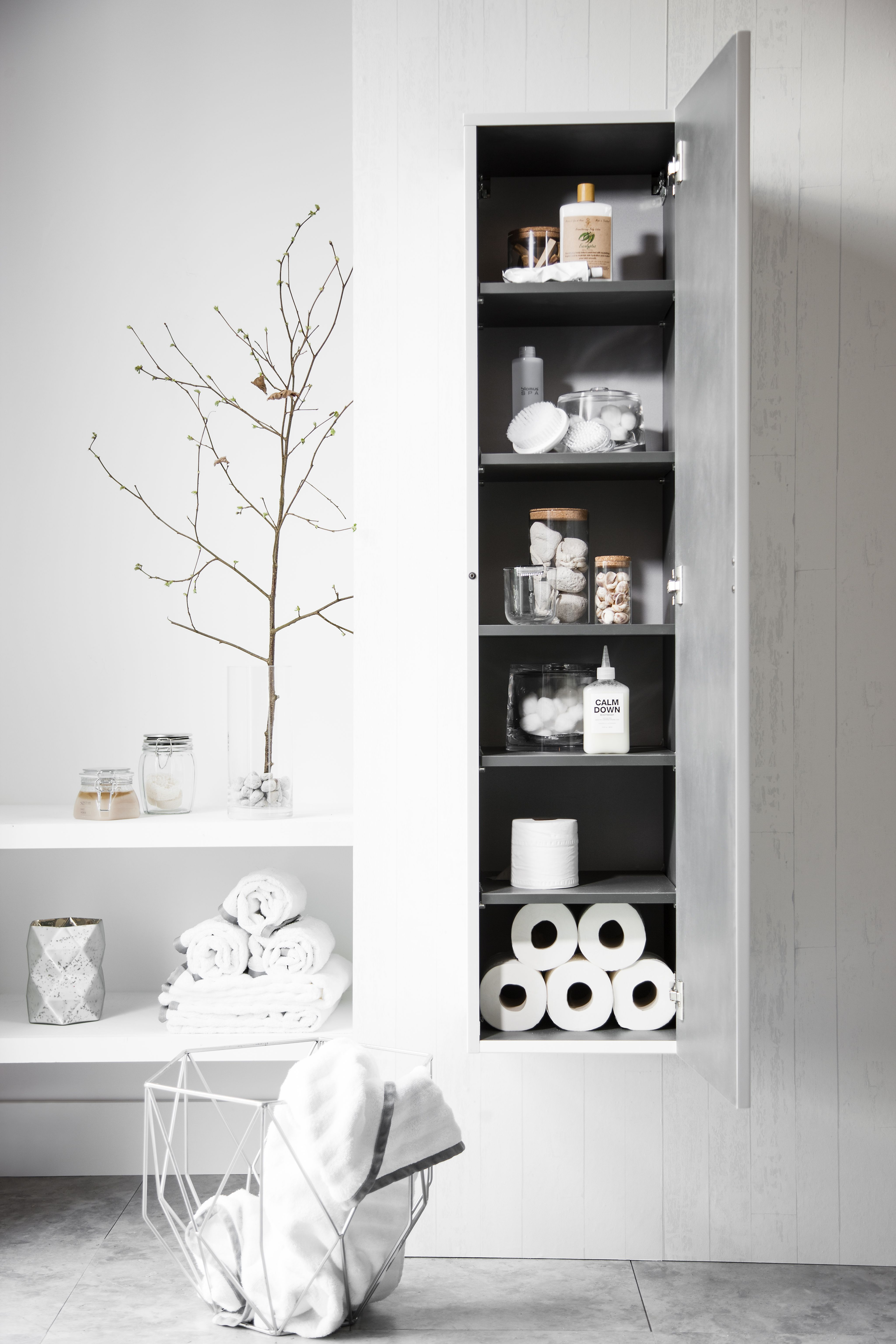 Pure white bathroom storage, as stylish as it is practical - Elite ...