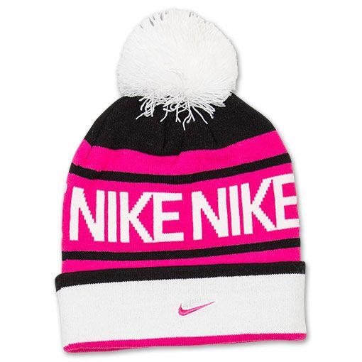 bd2622938ac Girls  Nike Pom Beanie Hat - 546113 013