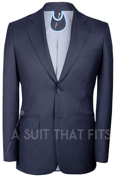 Black Distinguished 2-Piece Suit with gunmetal lining.