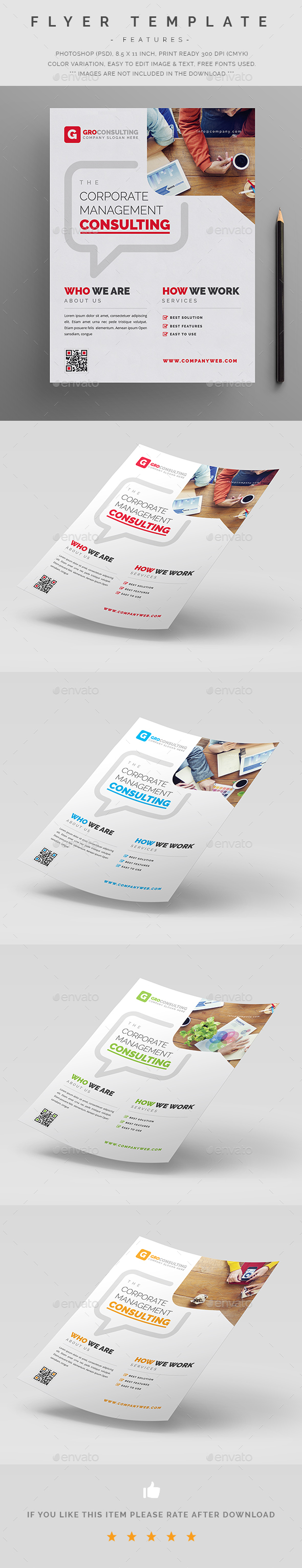 Corporate Flyer Template Psd  Corporate Design