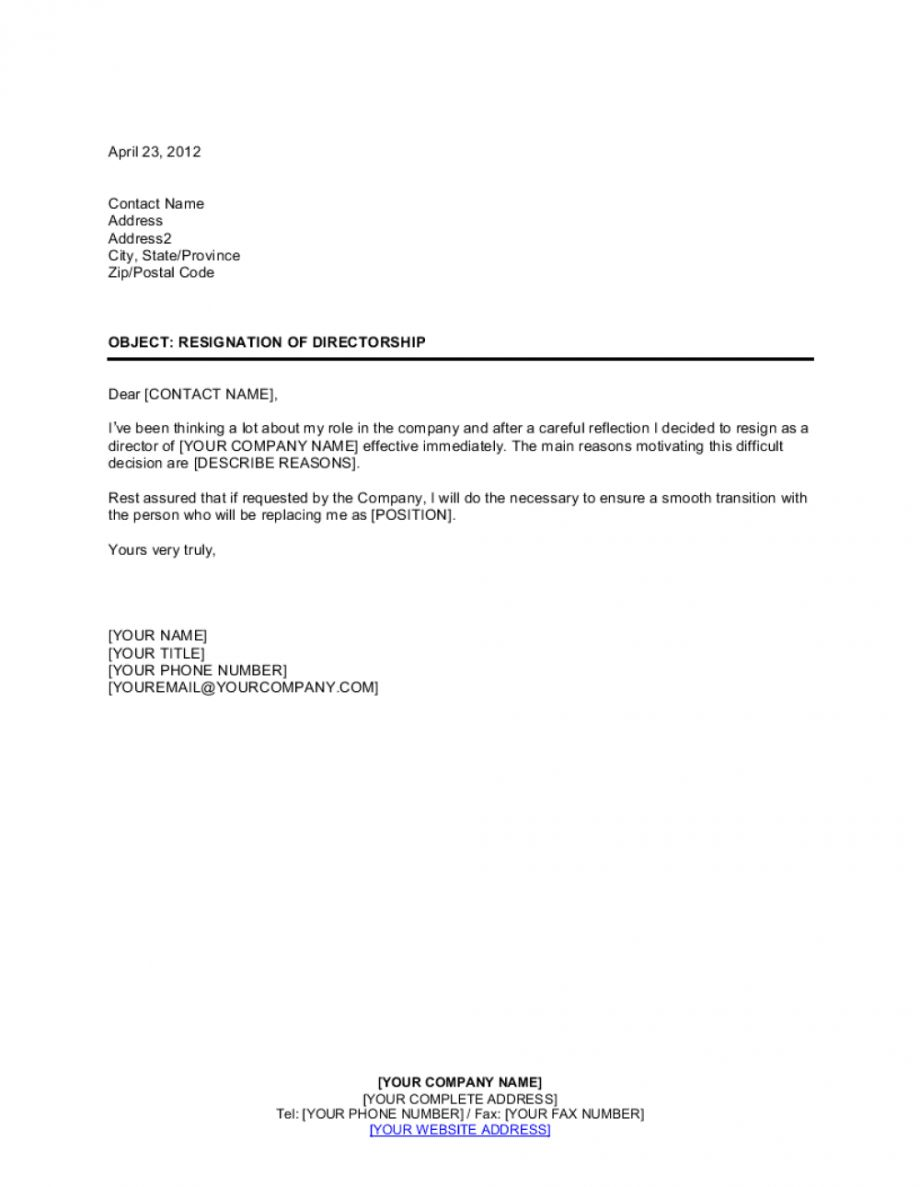 Explore Our Example Of Corporate Officer Resignation Letter For Free Resignation Letter Resignation Letters Lettering