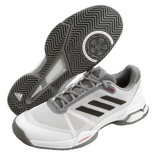 adidas Barricade Club OC Men's Tennis Shoes Racquet Gray Mesh Upper NWT  CM7782 #adidas