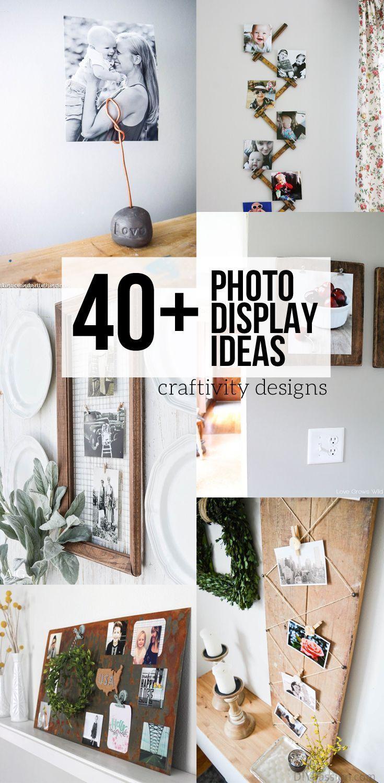 photo display ideas home decor diy projects pinterest