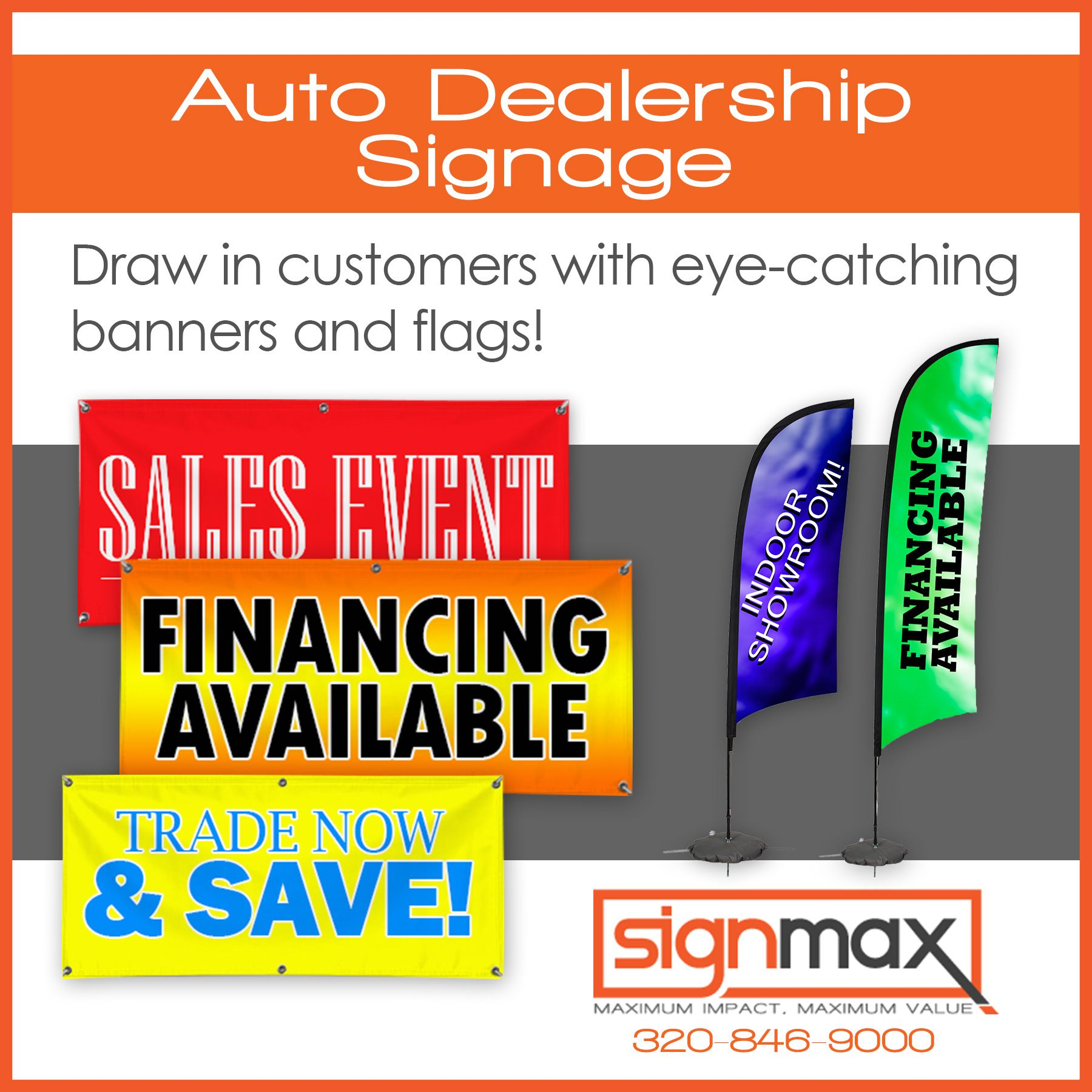 auto dealership signage draw in customers with eye catching