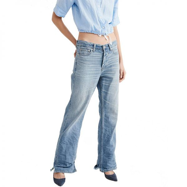 - Switch up your tried-and-true denim with an unconventional silhouette. Tomboy jeans exude model-off-duty cool when styled with pumps orheeled booties.Abercrombie Wide Leg Jeans, $78