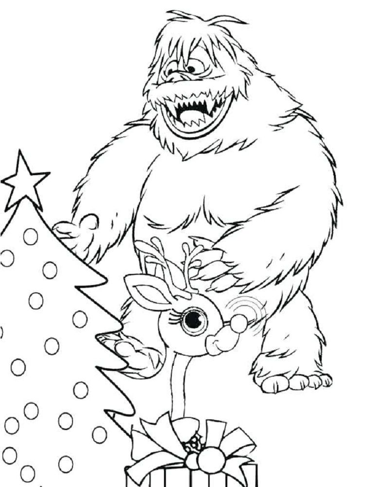 bumble abominable snowman coloring pages | Coloring Pages For Kids ...