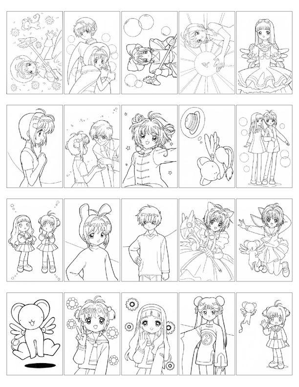 hellosugahs lj card captor sakura coloring book - Cardcaptor Sakura Coloring Pages