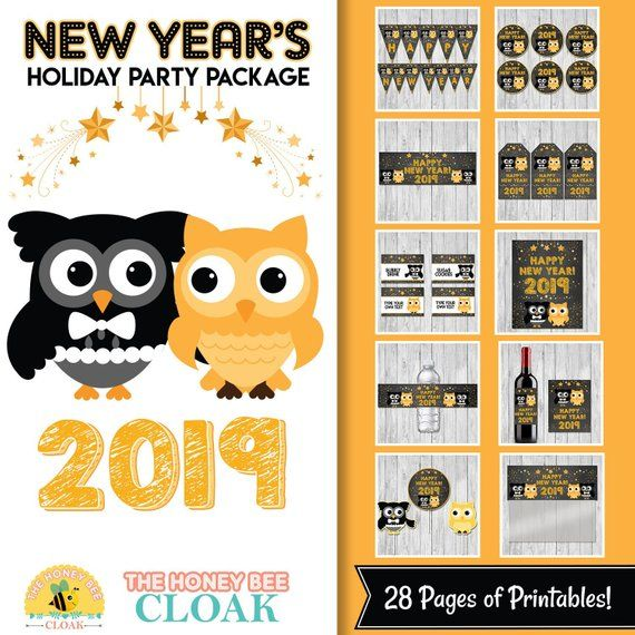 New Year S Eve Party Package Holiday Party Decor New Years Party Printables New Years Dinner Holiday Party Decorations Party Packages New Years Eve Party