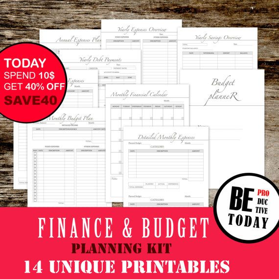 Financial Planner Bundle Budget Planner Bill Organizer Expenses