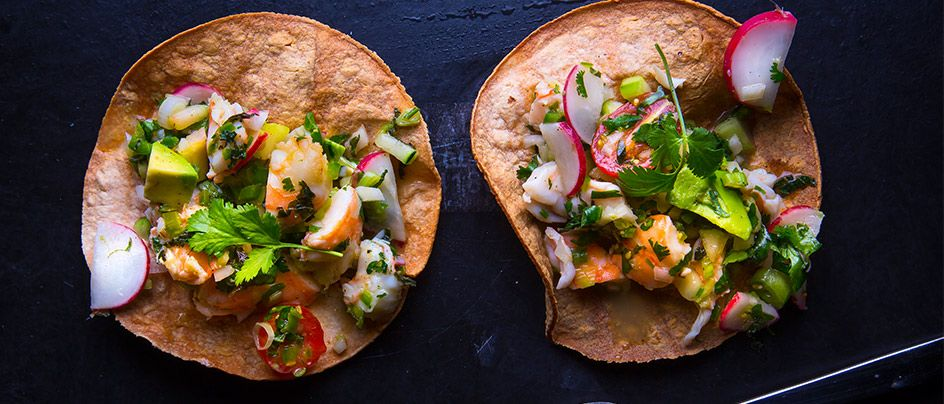 Learn to make Shrimp Tostada from Chef Drew Deckman of Deckman's en el Mogor.
