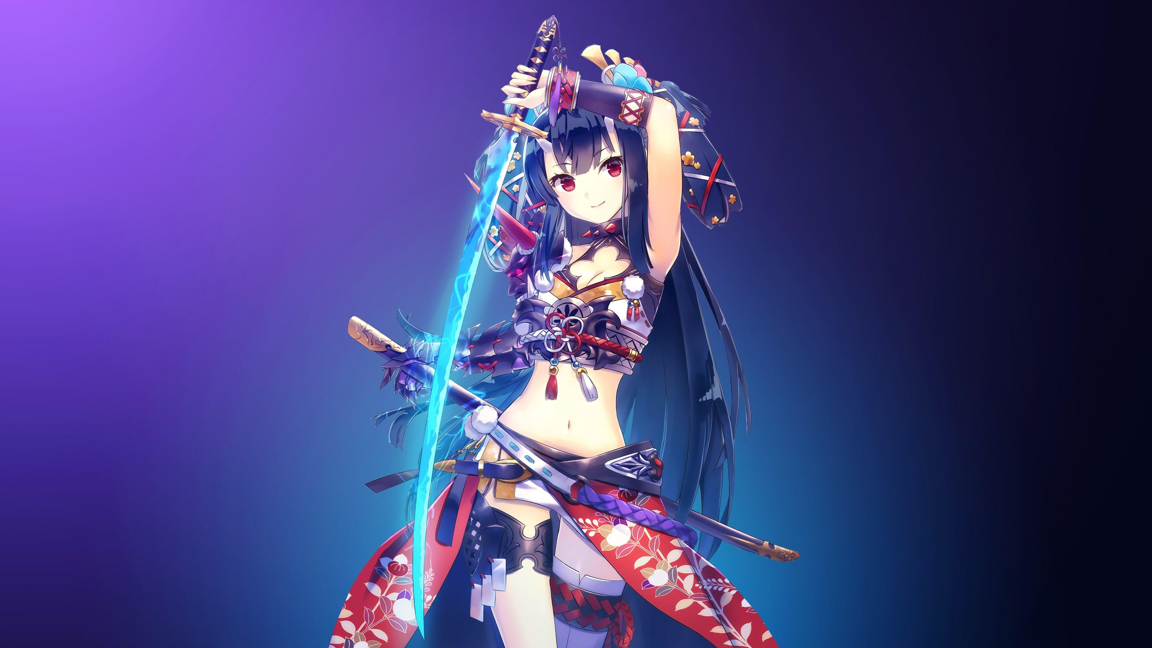 3840x2160 Warrior Girl 4k Free Full Hd Wallpaper Anime Warrior Anime Warrior Girl Anime