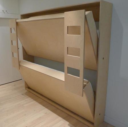 wall Loft Bunk Beds | Para dormitorios todavía más pequeños, podemos ...