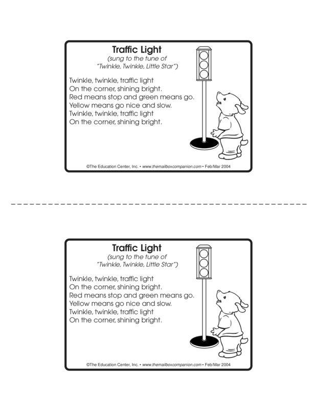 Traffic Light Lesson Plans  The Mailbox  Preschool Community