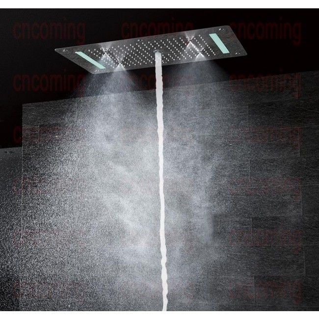 Super Luxury Shower 5 Function Recessed Ceiling Mount Led Large