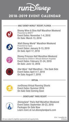 Race Calendar.2018 Rundisney Race Calendar Rundisney Run Disney Run Disney
