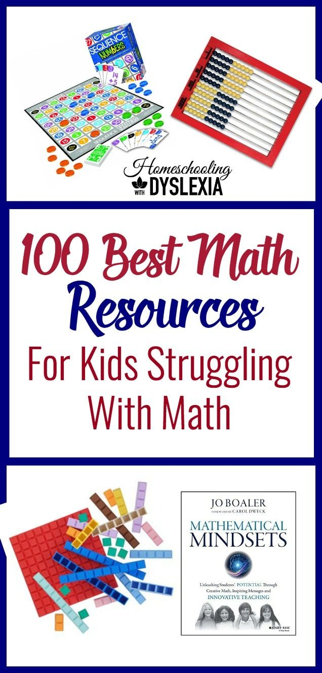 100 Best Resources for Kids Who Struggle With Math | Pinterest ...