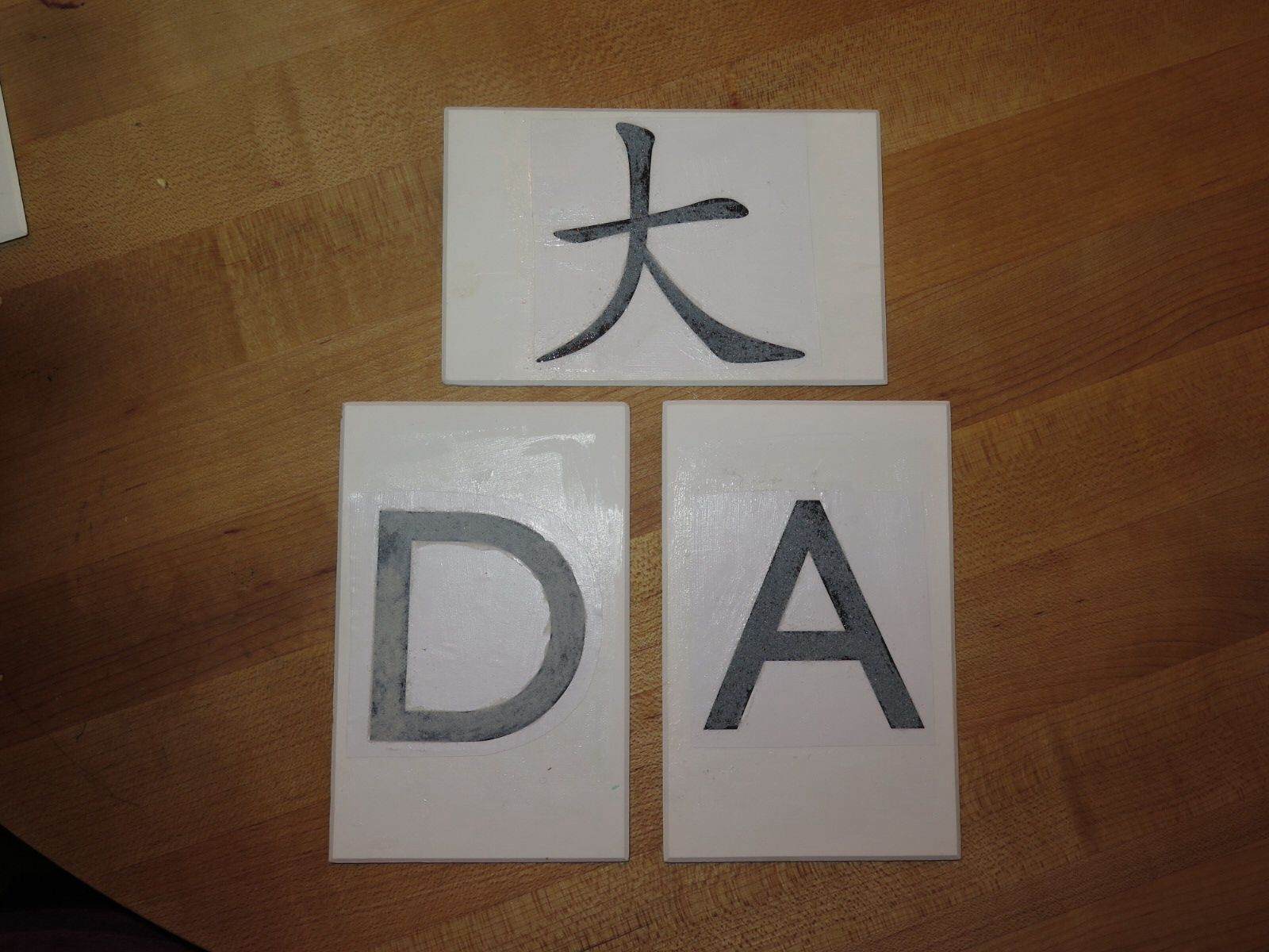 Diy Montessori Style Sandpaper Letters Chinese Characters