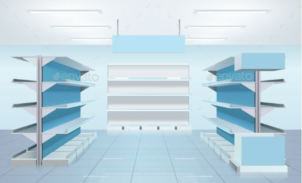 Cool Empty Supermarket Shelves Design By Macrovector Supermarket Home Remodeling Inspirations Genioncuboardxyz