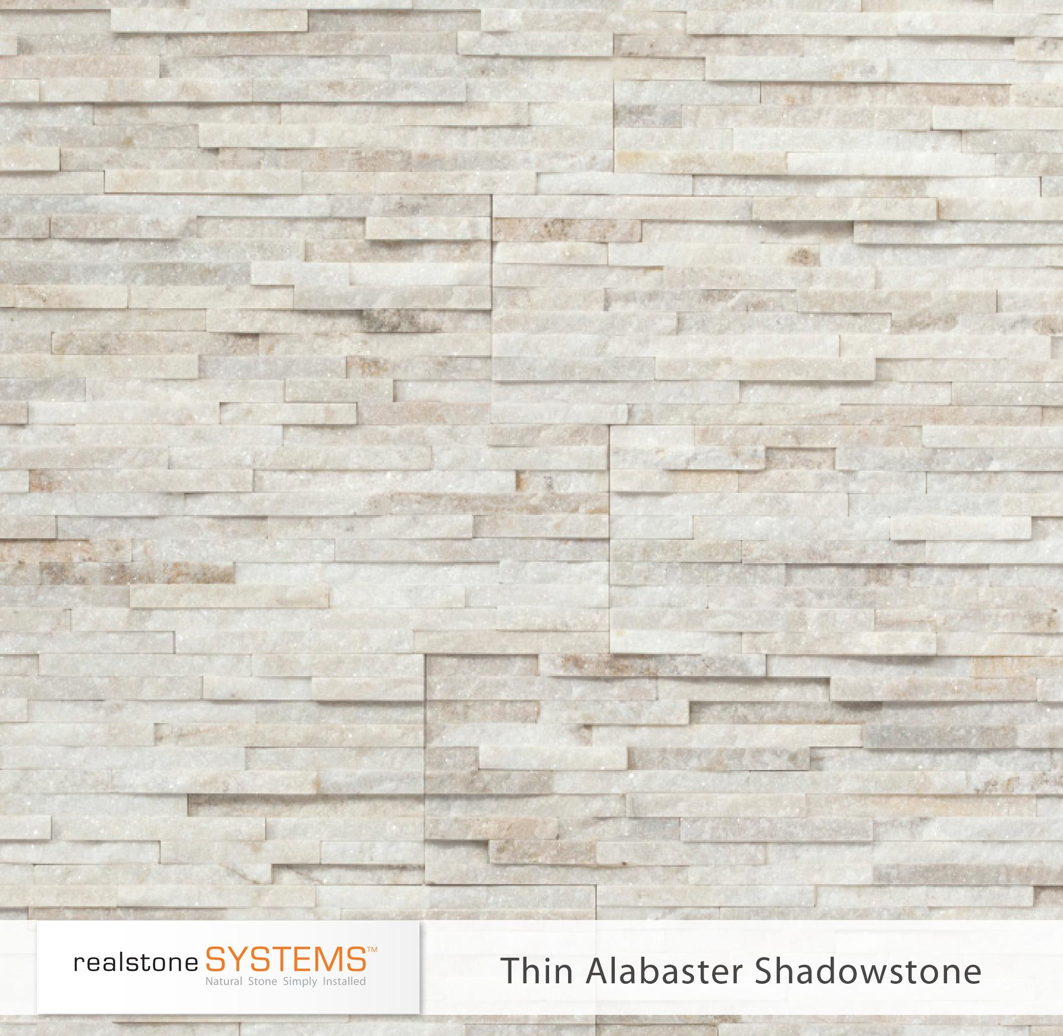 Thin Alabaster Shadowstone Thinstone Veneers from Realstone Systems
