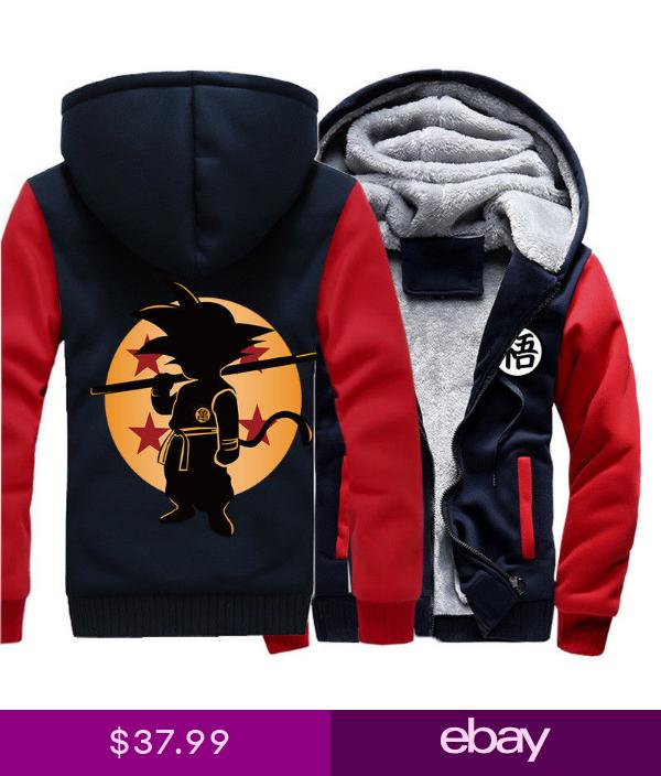Anime Dragon Ball Hoodies Winter Warm Sweatshirts Thicken