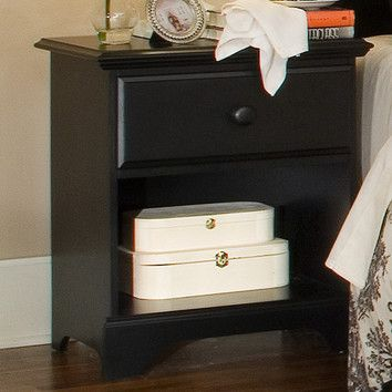 Carolina Furniture Works, Inc. Midnight 1 Drawer Nightstand