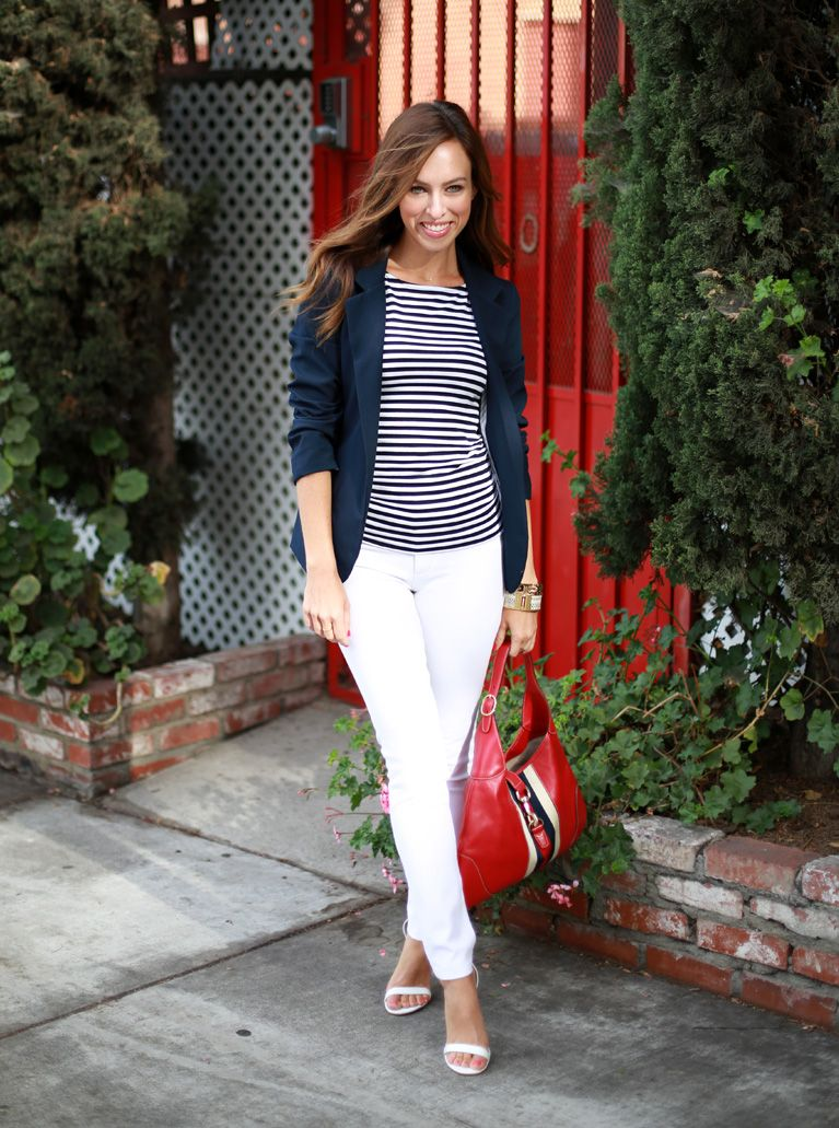 1000  images about How to style: white pants on Pinterest | Black