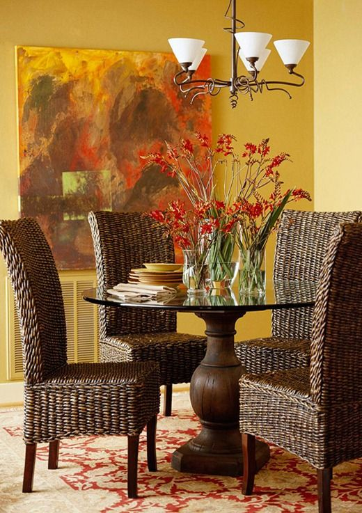 Mixandmatch Dining Room Chairs  Tropical Vibes Rattan And Coastal Prepossessing Tropical Dining Room Chairs Decorating Design