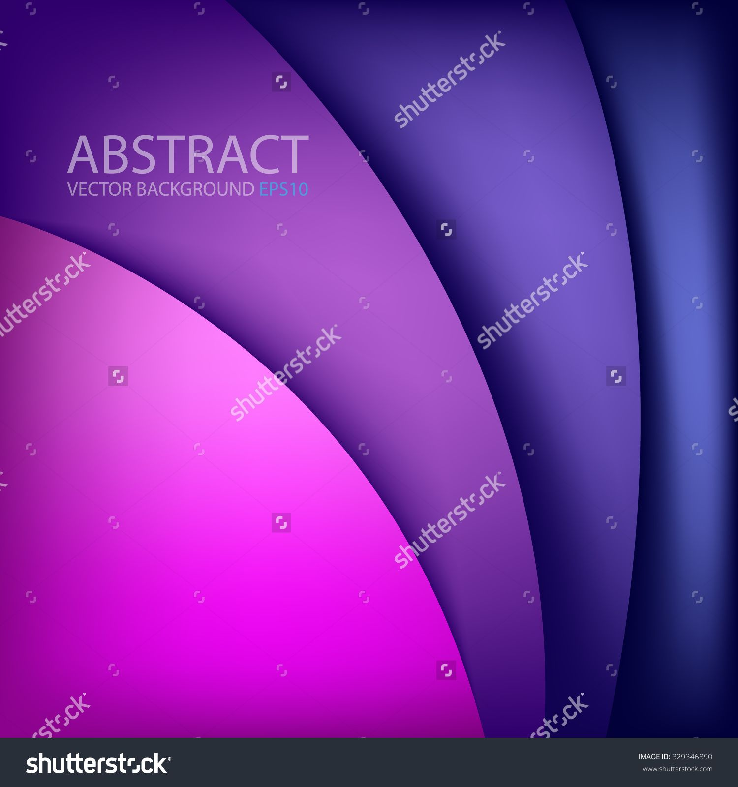 Purple And Blue Background Vector Overlap Paper