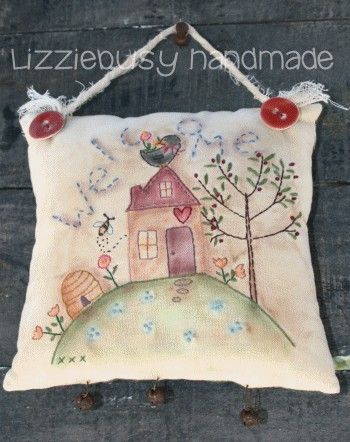 Instant download Primitive stitchery e-pattern welcome available in  english or italian