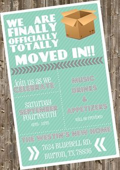 housewarming invitation - finally | funny, we and parties, Party invitations