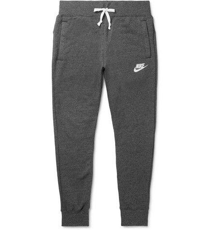 af3d9acef688 NIKE Sportswear Heritage Slim-Fit Tapered Loopback Cotton-Blend Jersey  Sweatpants.  nike  cloth
