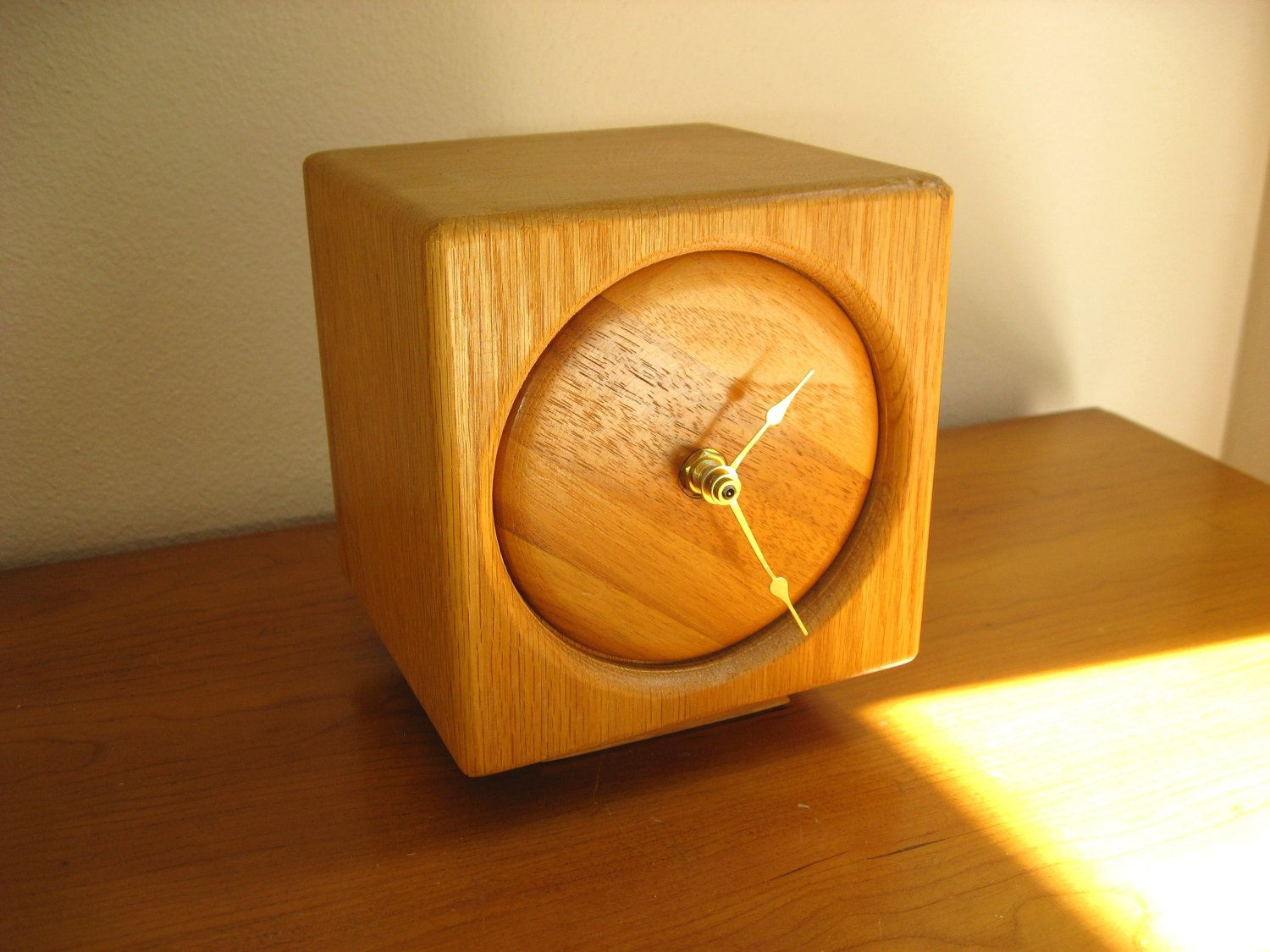 Vintage wooden music stand book stand by vintagearcheology on etsy - Vintage Wood Block Clock Butcher Block Clock Cube Shaped Square Modern