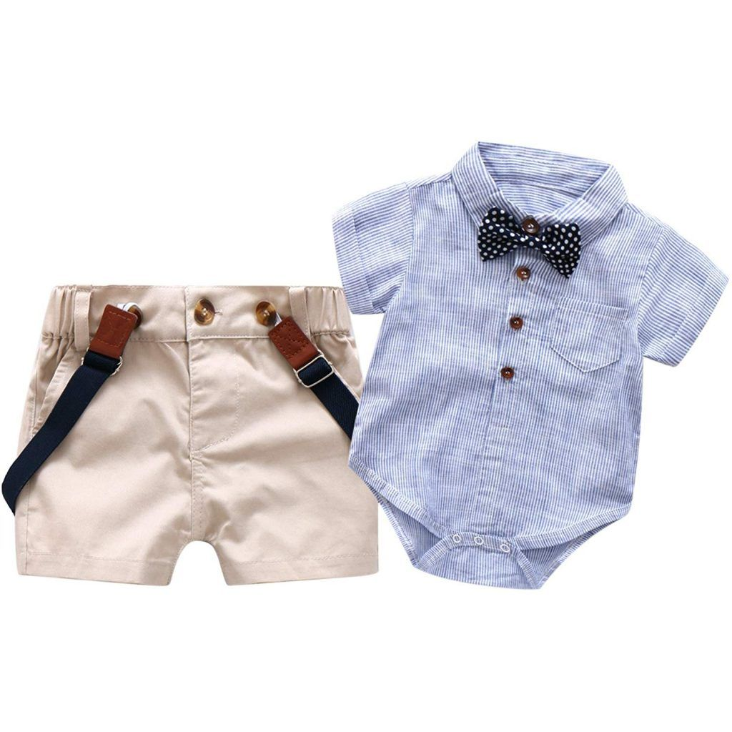 80ded03da Baby Boys Short Sleeve Gentleman Outfits Suits