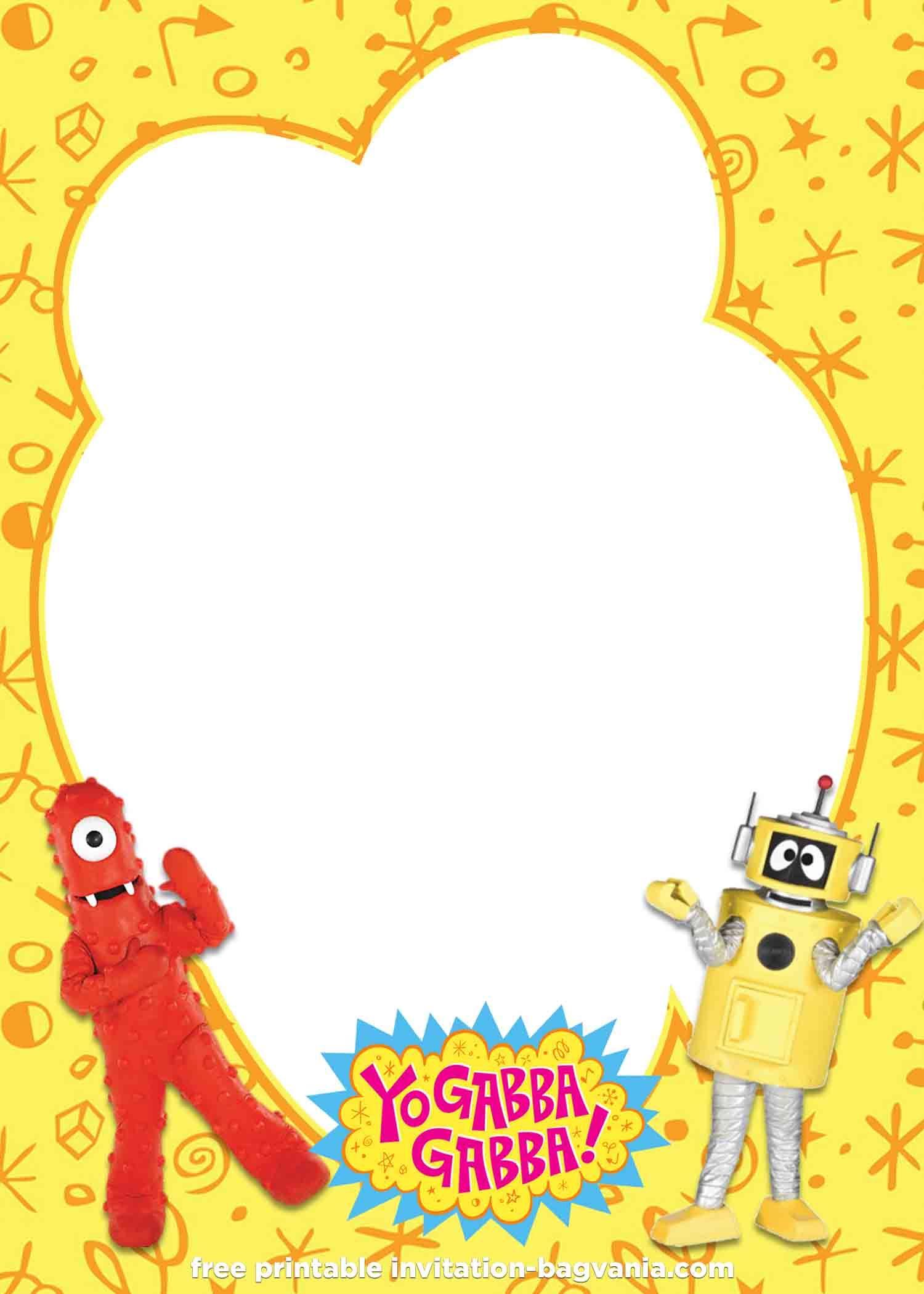 Free Yo Gabba Gabba Invitation Templates Yo Gabba Gabba Invitation Template Gabba Gabba [ 2100 x 1500 Pixel ]