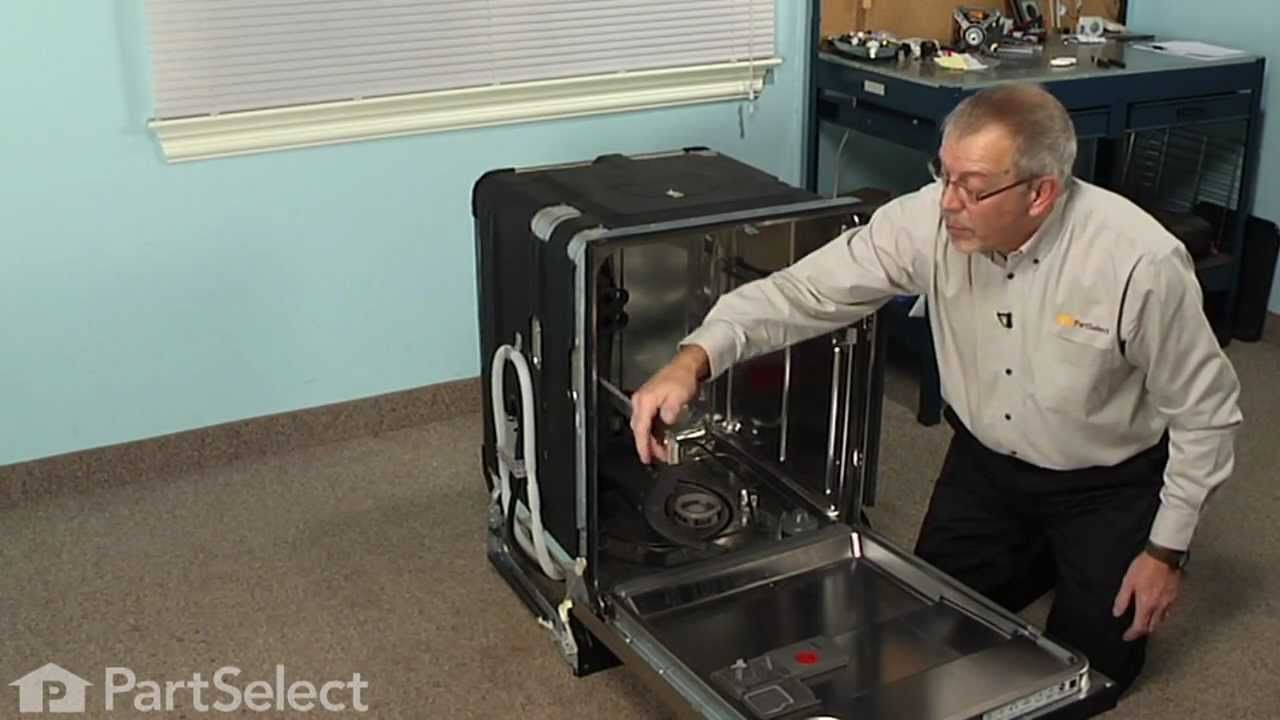 Dishwasher repair replacing the spinner kit whirlpool