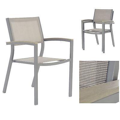 Gartenstuhl alu textil  4er Set Gartenstuhl mit Polywood Armlehnen aus Alu und Textil in ...