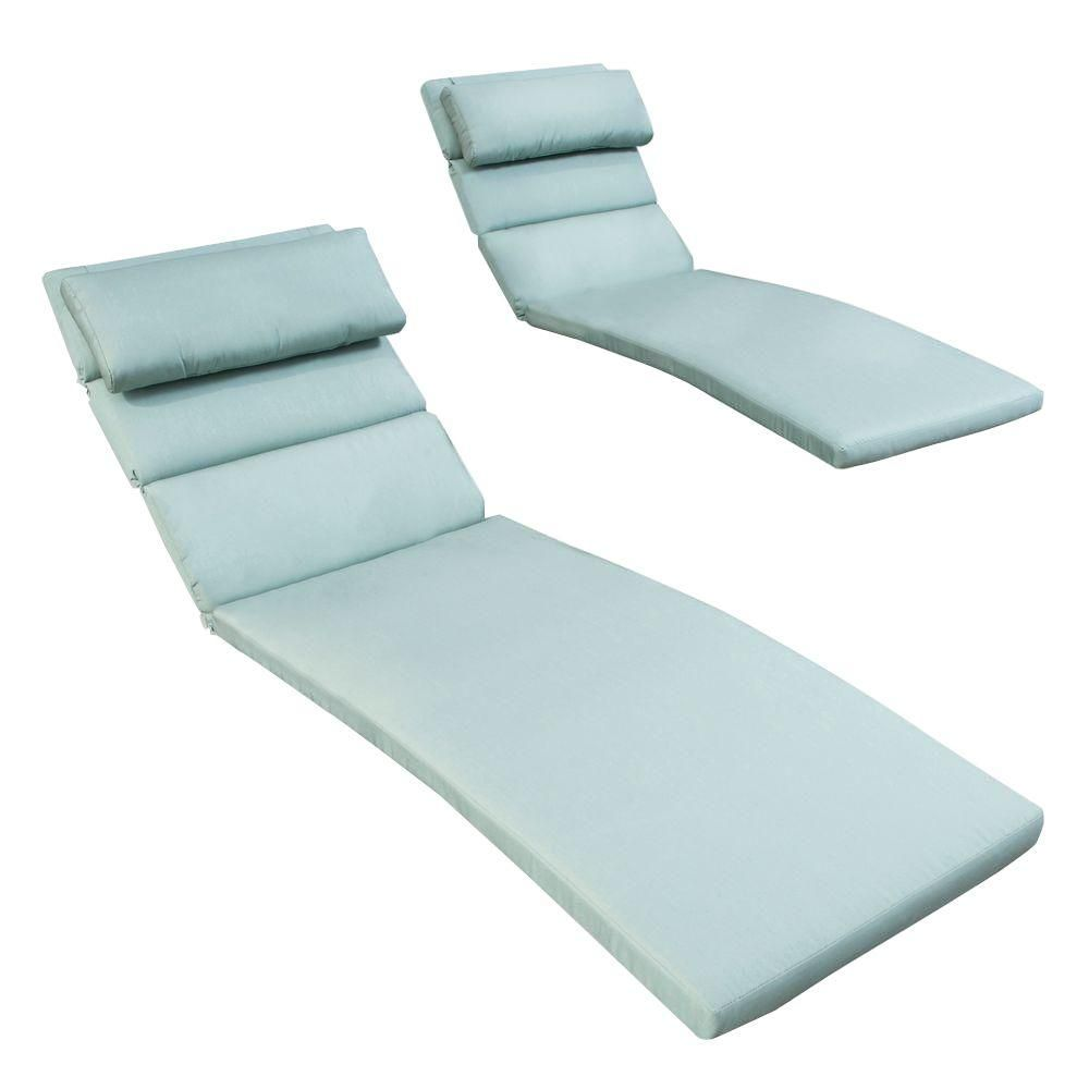 Astounding Rst Brands Bliss Blue Outdoor Chaise Lounge Cushions Set Of Pdpeps Interior Chair Design Pdpepsorg