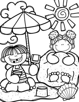 FREE Summer Time Coloring Book