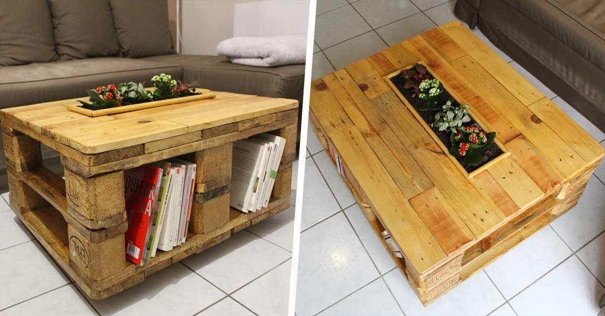Une Avec Palette En Basse Sa TutoFabriquez Jardinière Table odrBeCWx