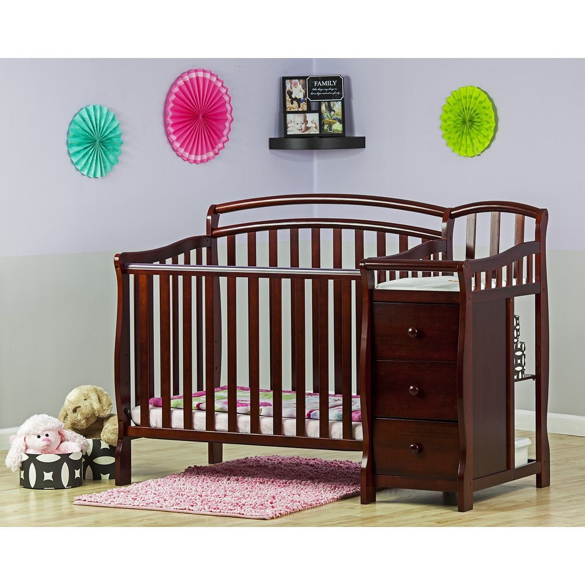 Dream On Me Casco 4 In 1 Mini Crib And Changing Table Mini Crib Cribs Crib With Changing Table