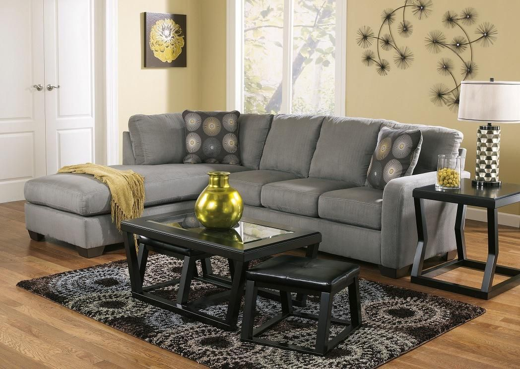 Zella Charcoal Contemporary Sectional Sofa With Left Arm Facing Chaise By Signature Design Ashley Michael S Furniture Warehouse