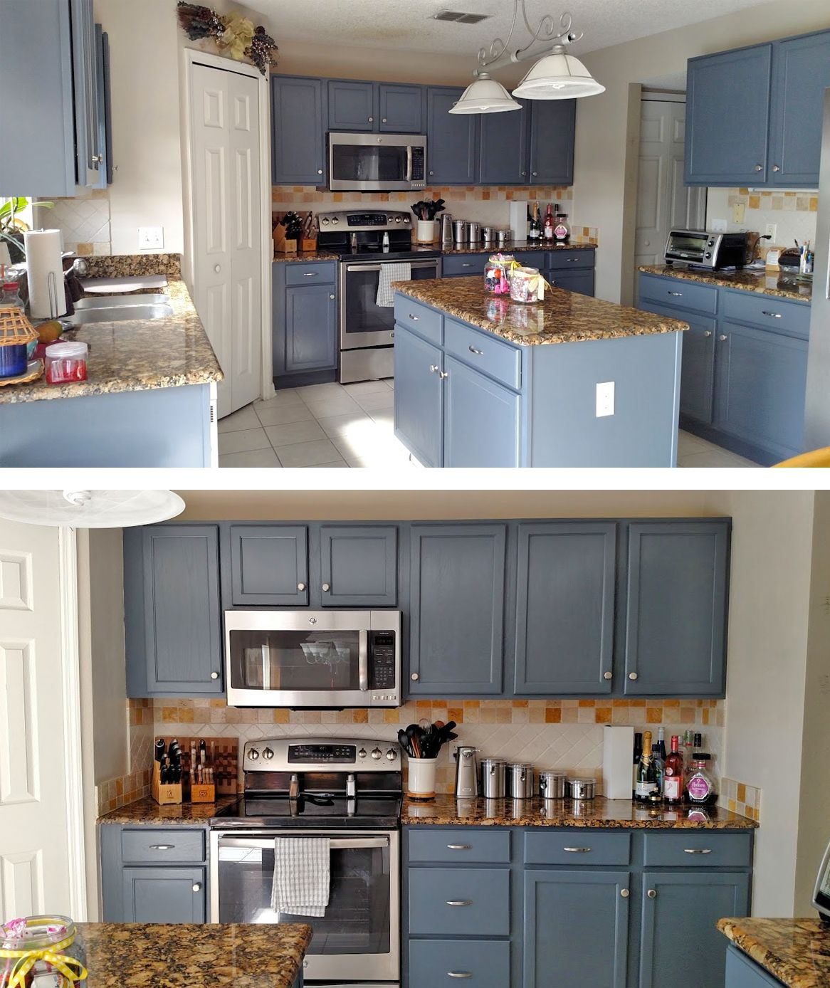 Kitchen Makeover In Gray Gel Stain Gel Stain Kitchen Cabinets Stained Kitchen Cabinets Staining Cabinets