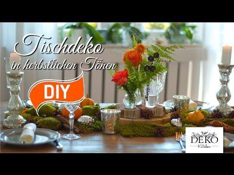 1 2 3 Herbst Mega Easy Tischdeko Diy Youtube Herbst Pinterest