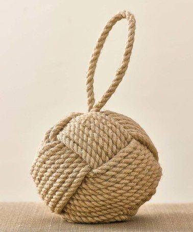 Jute Door Stop nautical rope-- I have them in white but really like this!