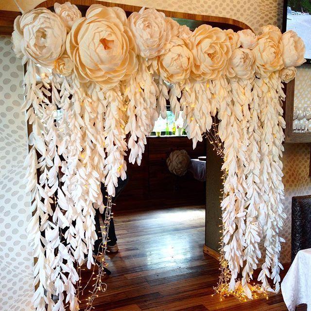 30cm Paper Flower Backdrop Wall Large Rose Flowers Scrapbook DIY Decor Part CL
