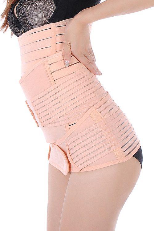 a9ea7f0642 3-in-1 C-section Corset Postpartum Postnatal Recovery Diastasis Recti  Splint Belly Support Girdle Belt Slimming Belt Pelvic Girdle Gastric Band  Shaper ...